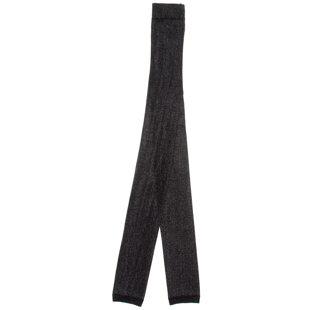 bf68be1765912 Country Kids - Black Sparkly Footless Tights | Childrensalon