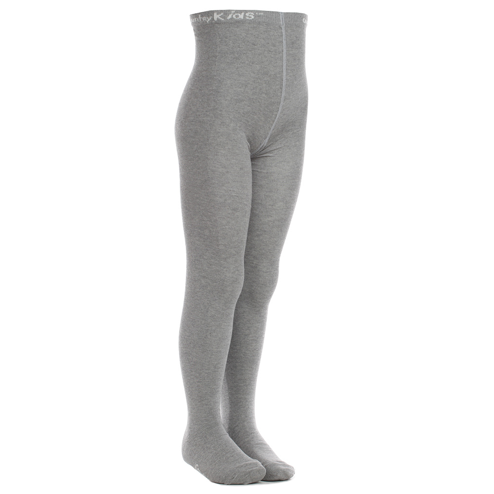 Country Kids - Grey Cotton Tights | Childrensalon