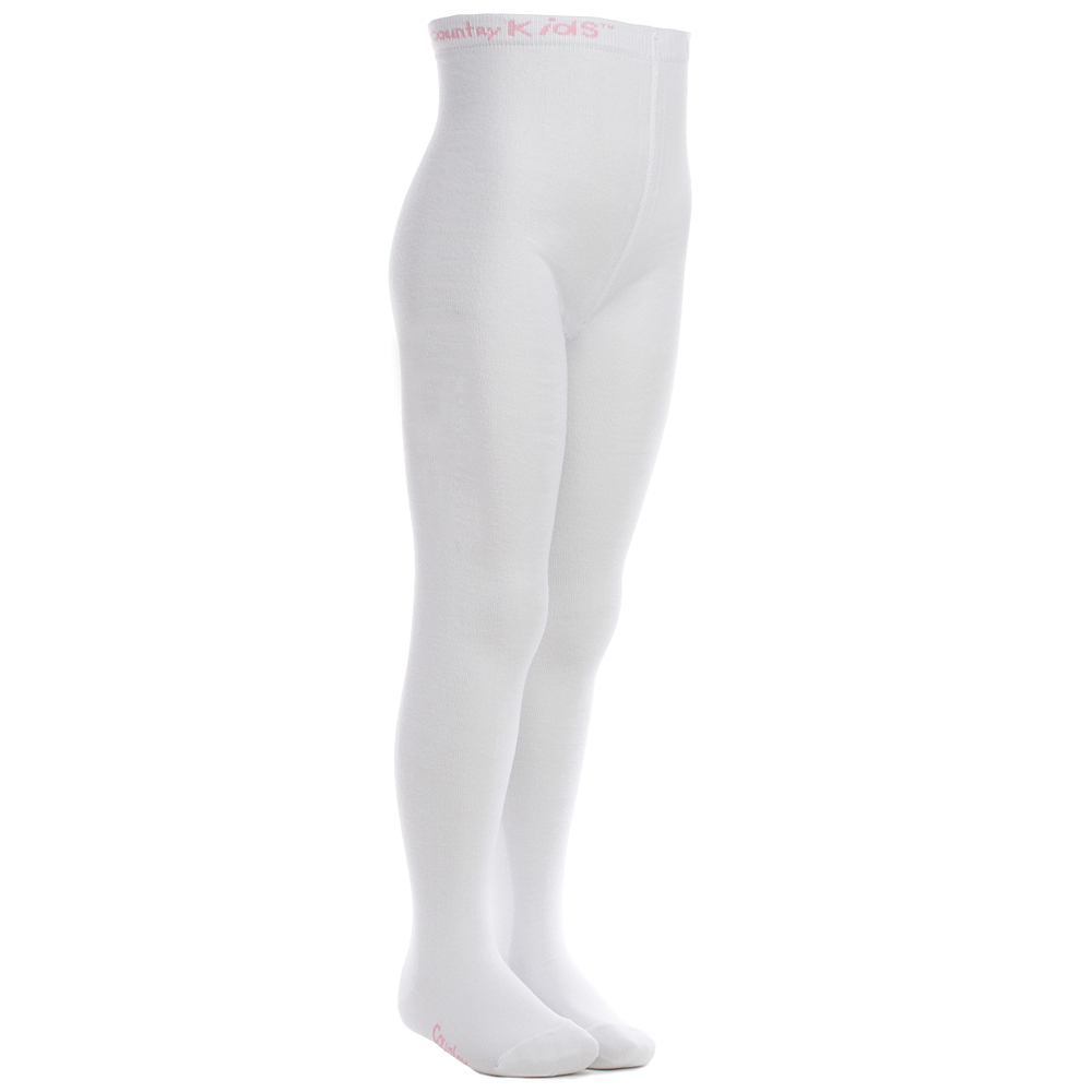 Country Kids - White Cotton Tights | Childrensalon
