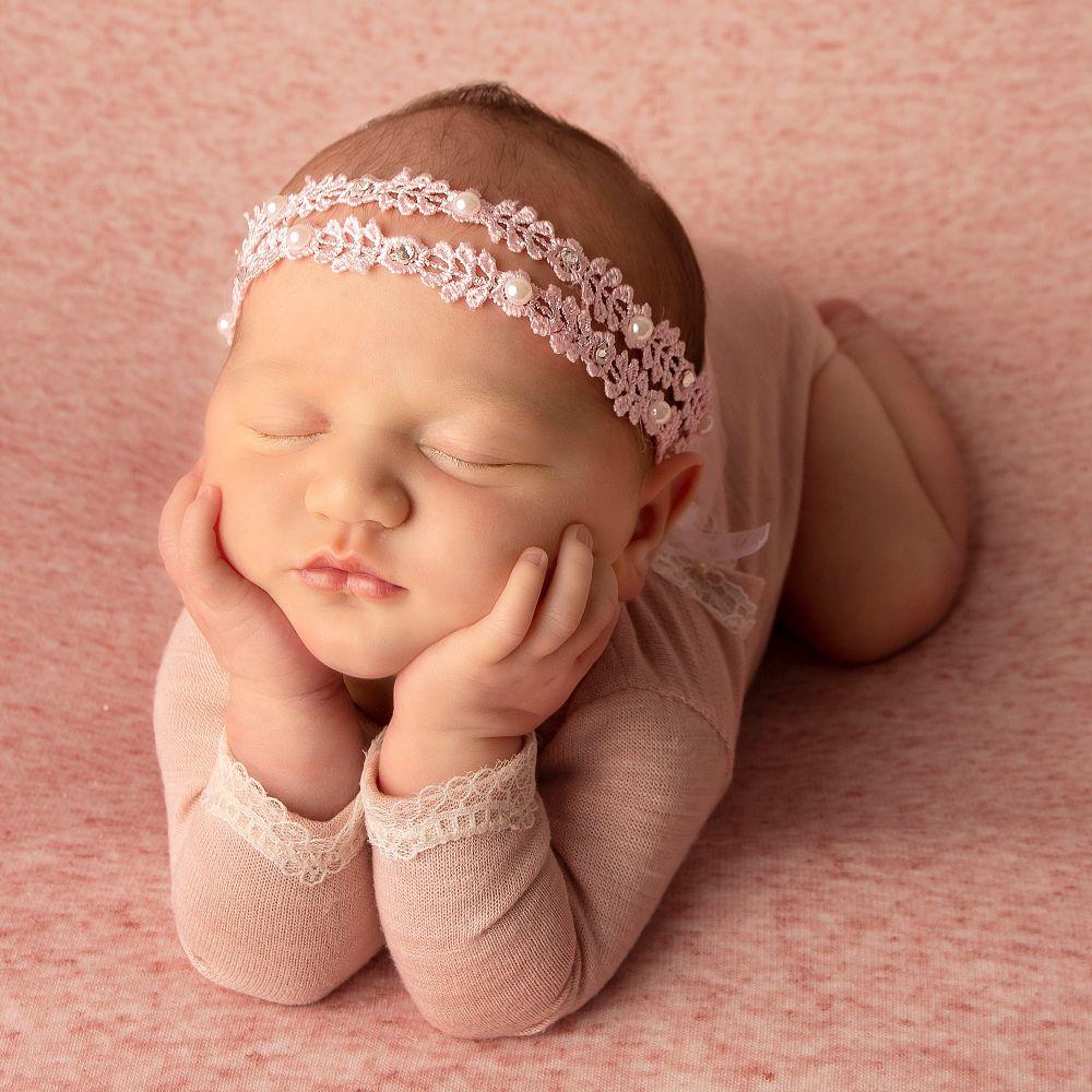 Cute Cute Baby Girls Pink Lace Headband