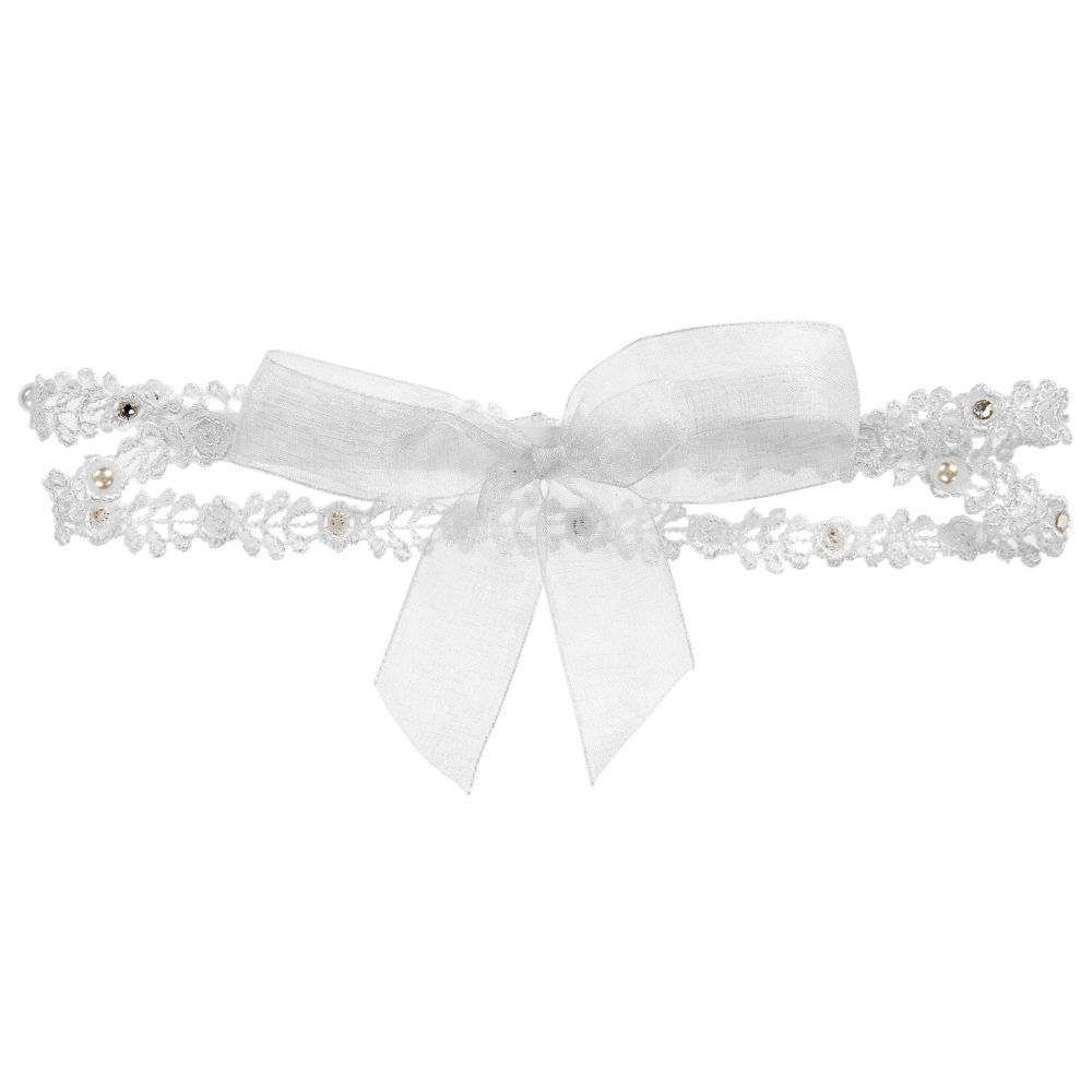 White Lace Butterfly Pale Pink Lace Headband *new* Baby Accessories