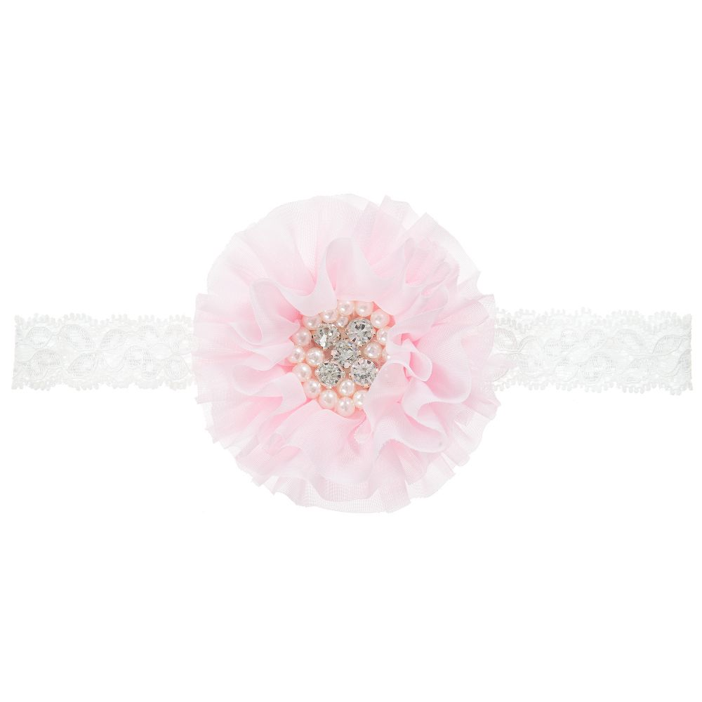Cute Cute Pink Chiffon Flower Headband Childrensalon
