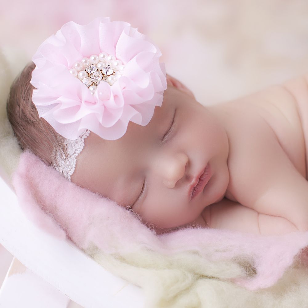 Cute Cute Pink Chiffon Flower Headband Childrensalon