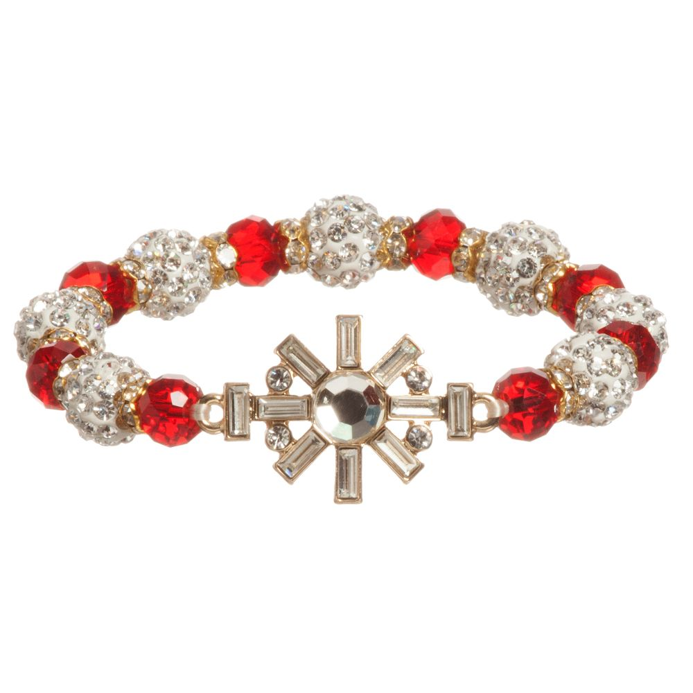 David Charles - Girls Red Crystal Bracelet | Childrensalon