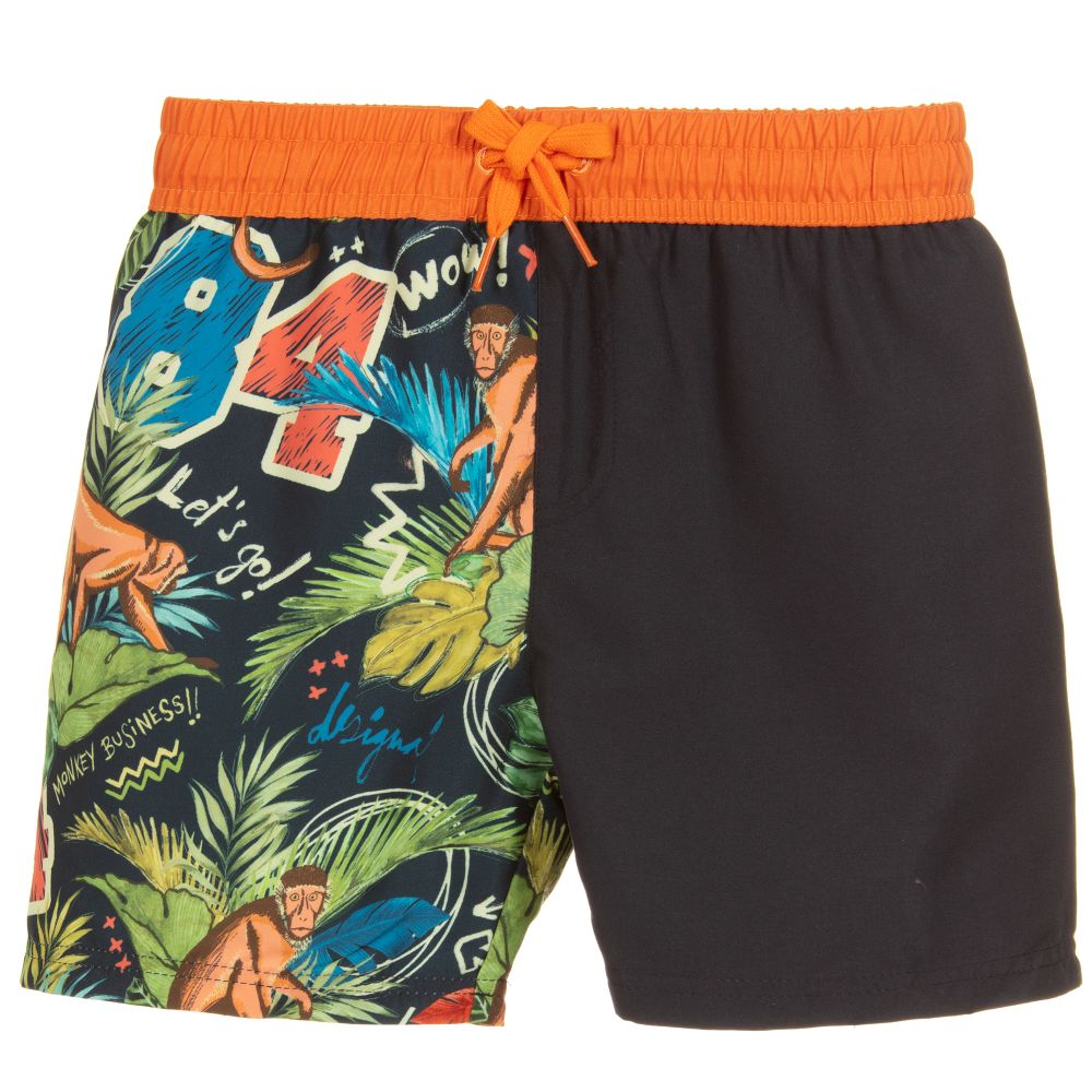 d54e6b90d3 Desigual - Boys Magic Print Swim Shorts | Childrensalon