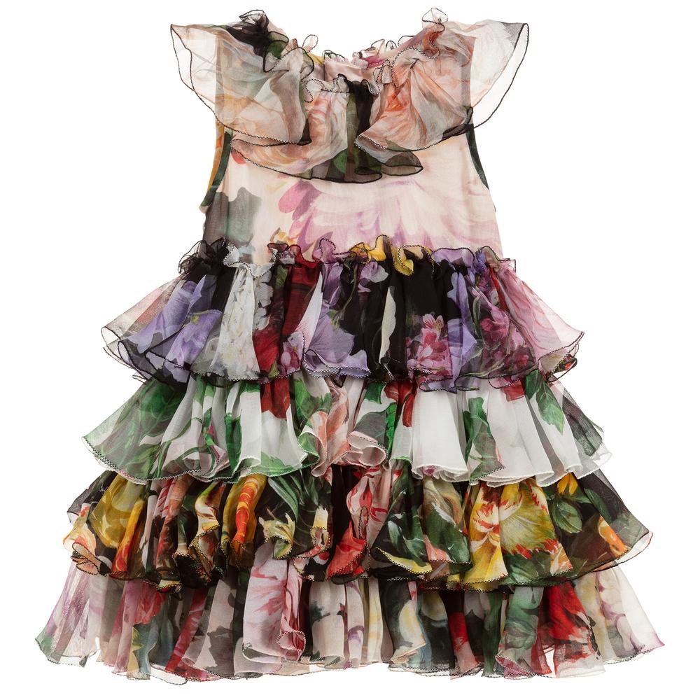 d09e5658 Dolce & Gabbana - Baby Girls Silk Dress Set   Childrensalon