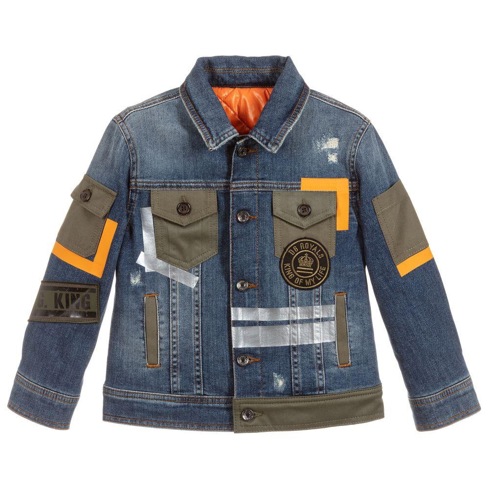 3d862043405 Dolce & Gabbana - Boys Blue Padded Denim Jacket | Childrensalon