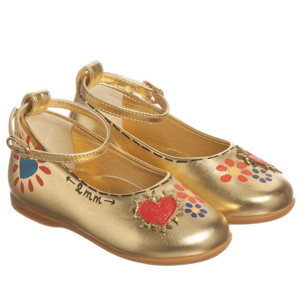 Dolce & Gabbana - Gold Leather Pumps   Childrensalon