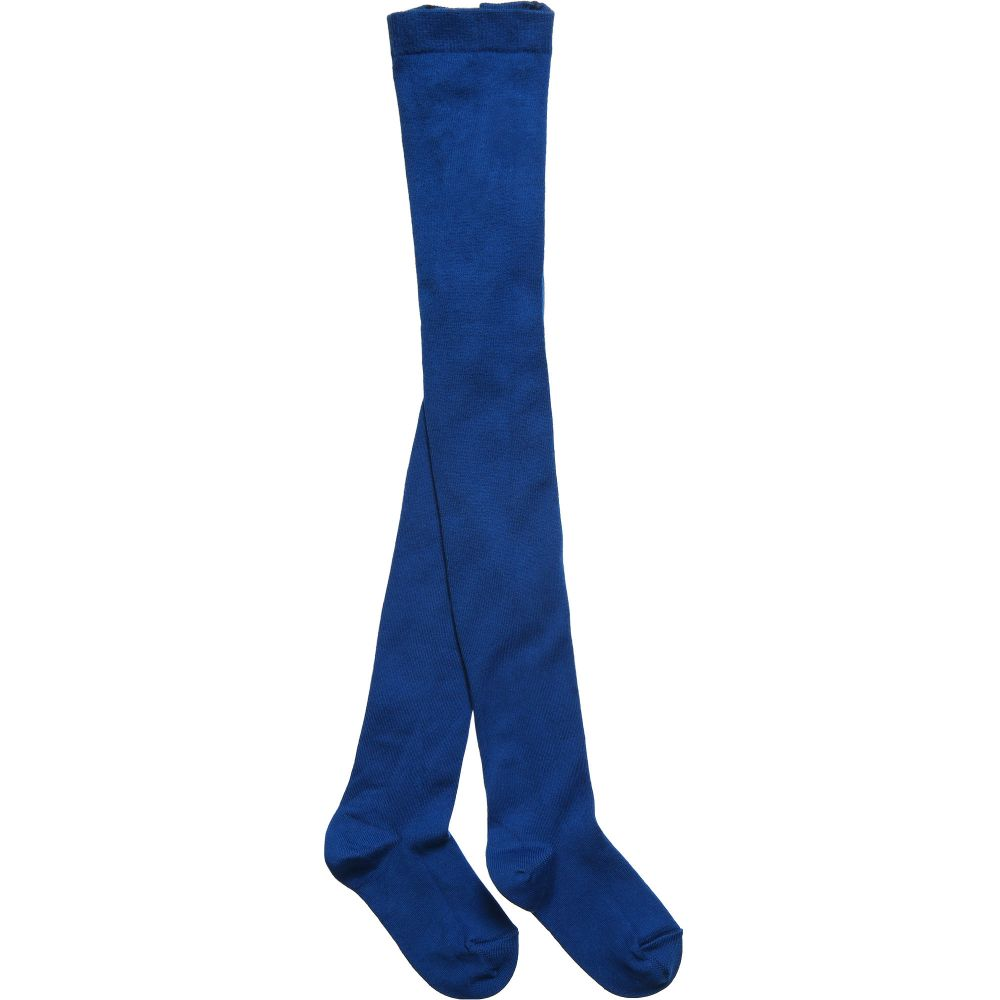 Dore Dore - Luxury Blue Cotton Tights | Childrensalon