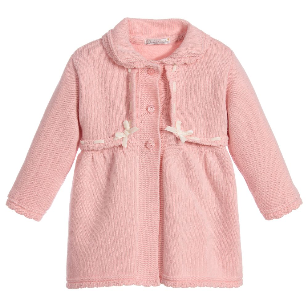 Dr. Kid - Baby Girls Knitted Wool Coat | Childrensalon