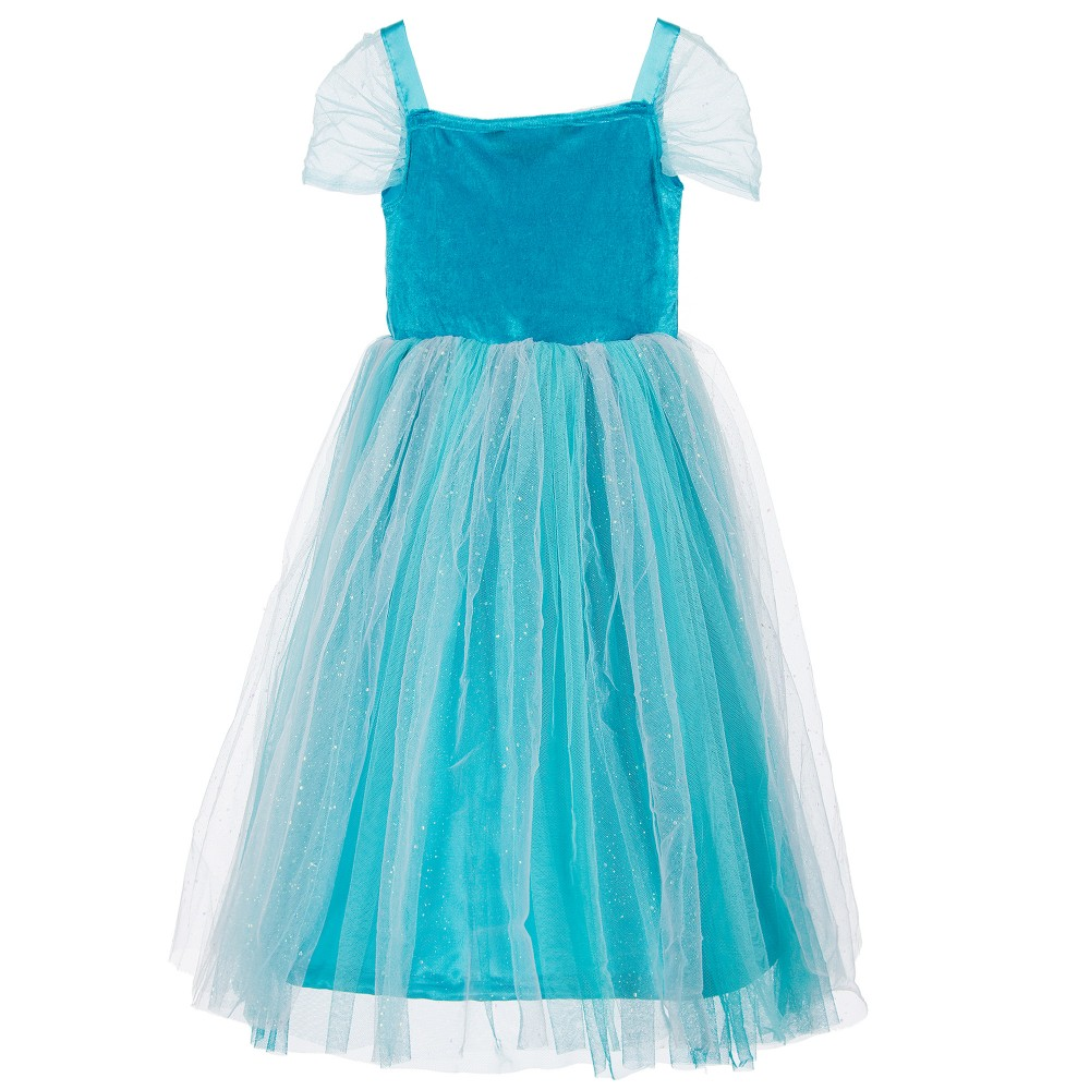 Dress Up By Design Girls Turquoise Sparkle Princess
