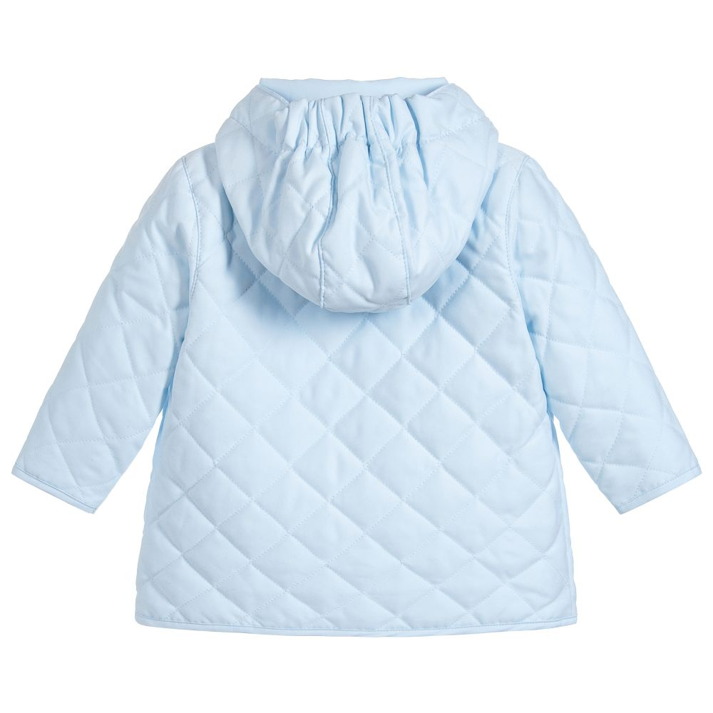 d6a8f165862b Emile et Rose - Baby Boys Blue Quilted Coat