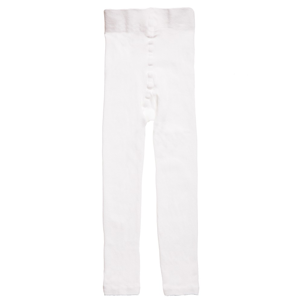 Falke - White Fine Cotton Leggings | Childrensalon