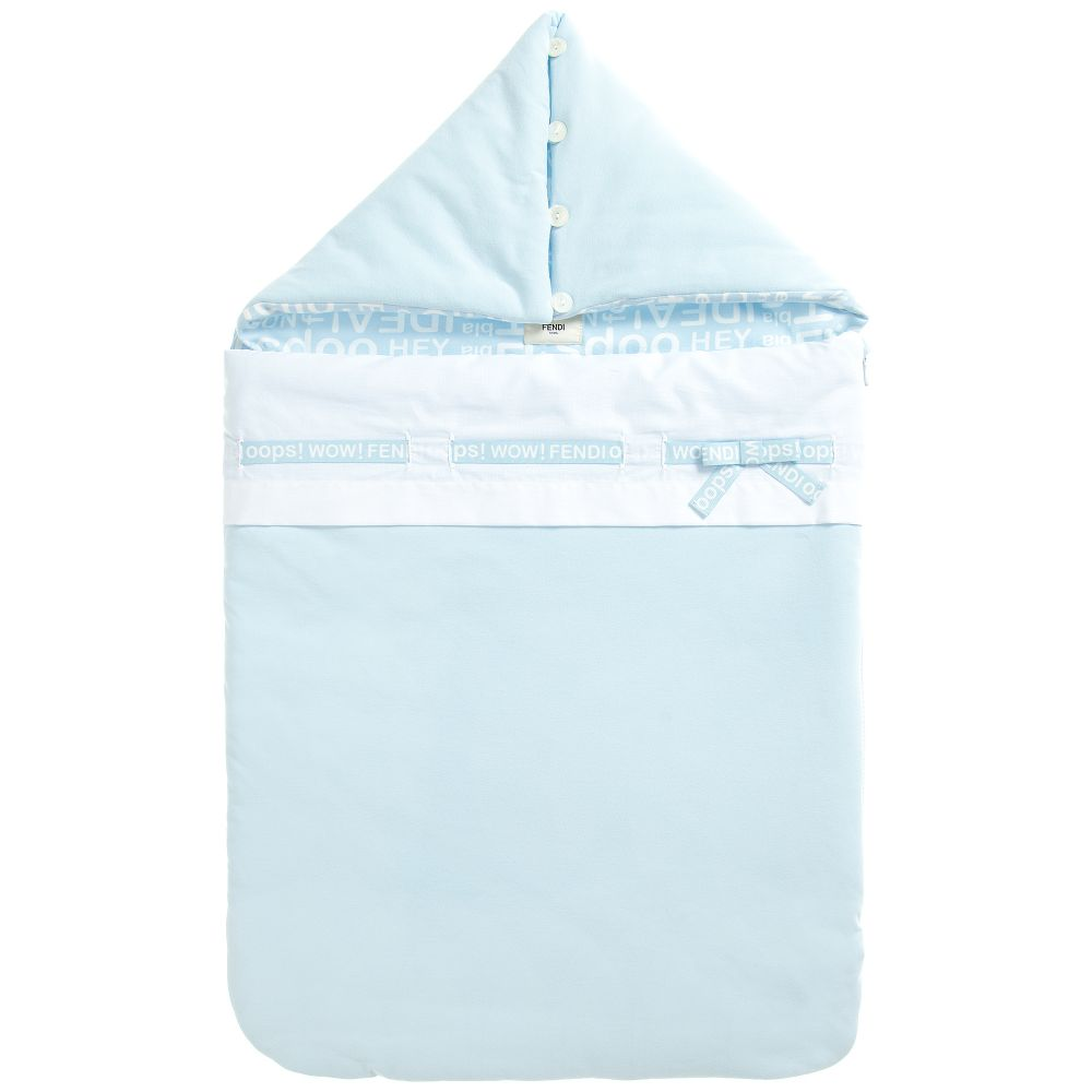 Fendi - Blue Padded 'Oops' Baby Nest | Childrensalon