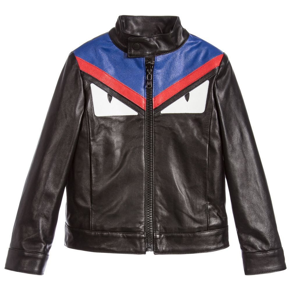 Boys Black Leather Jacket | Childrensalon