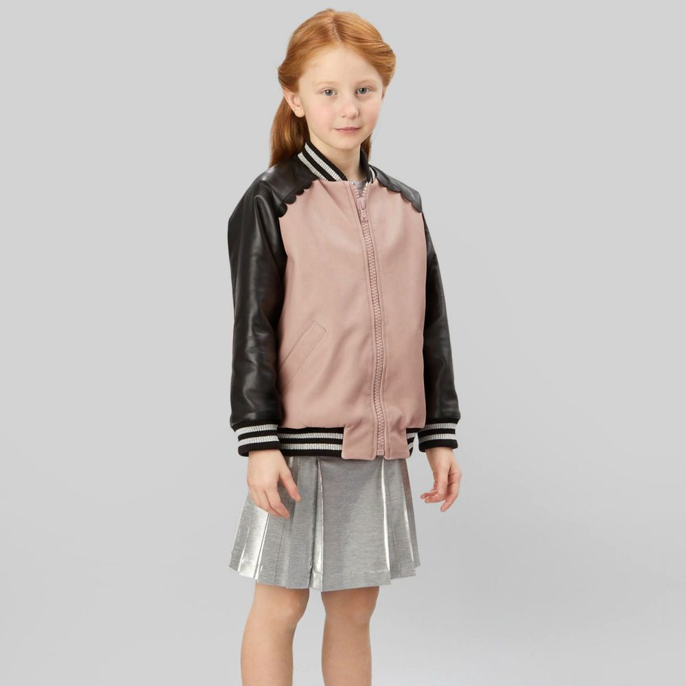 fendi girls pink leather jacket childrensalon