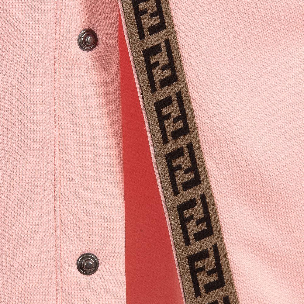 de3825ae6daa56 Fendi - Pink 'FF' Logo Popper Trousers   Childrensalon