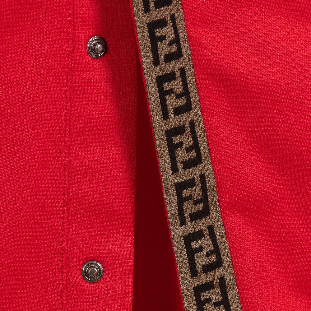 42bf630c478da1 Fendi - Red 'FF' Logo Popper Trousers   Childrensalon