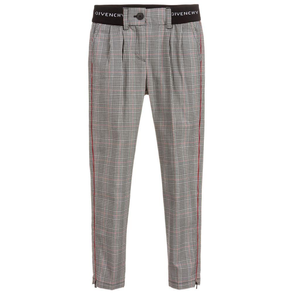 fe8108e04 Givenchy Kids - Black & White Check Trousers | Childrensalon