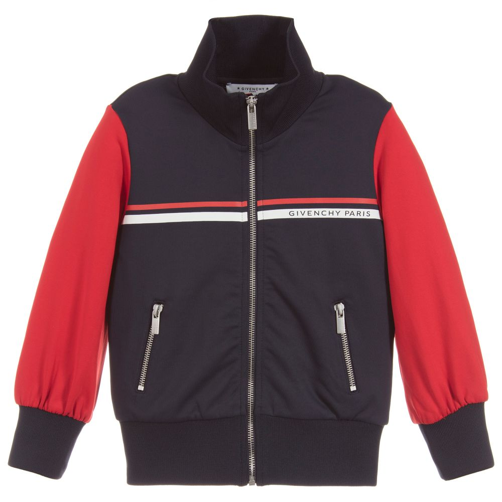 a1c078816db9 Givenchy Kids - Girls Blue   Red Zip-Up Top