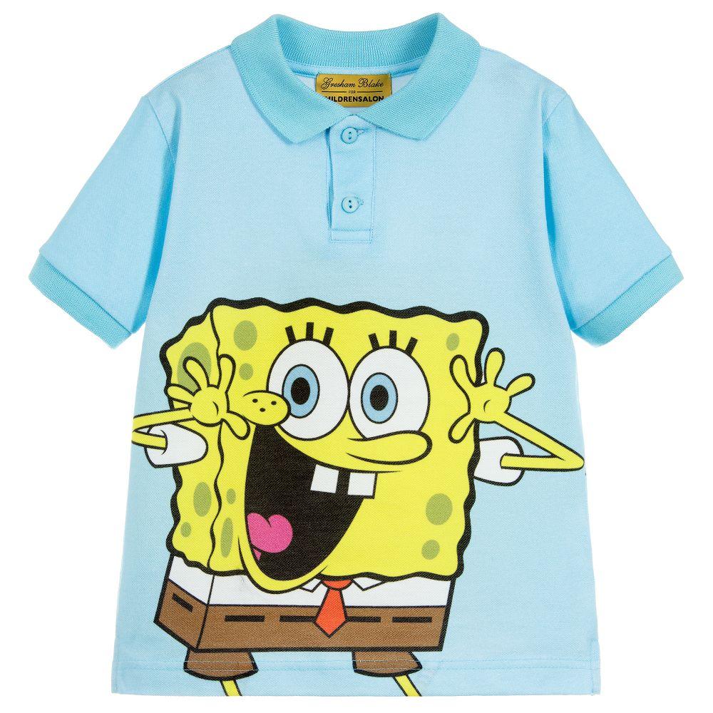 gresham blake for childrensalon boys cotton spongebob polo