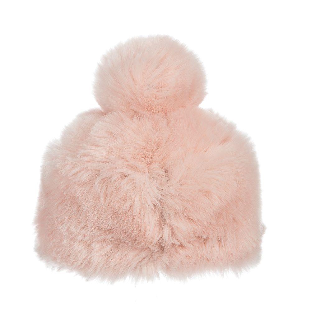 16ddf5f9036 Grevi - Pink Faux Fur Pom-Pom Hat