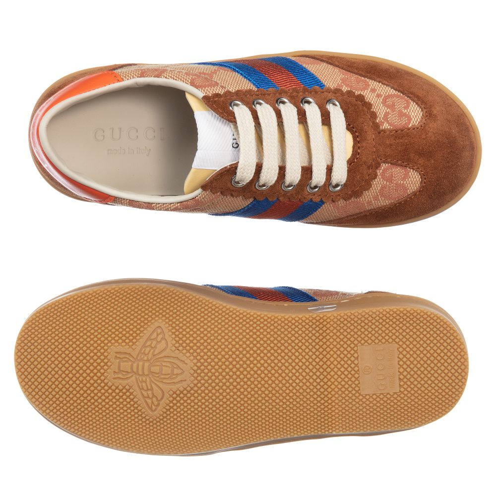 95207473 Beige & Brown 'GG' Trainers