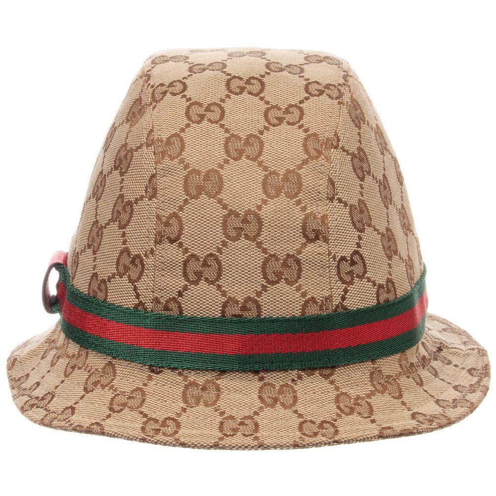 Gucci - Beige   Green GG Fedora Hat  755396e2c291