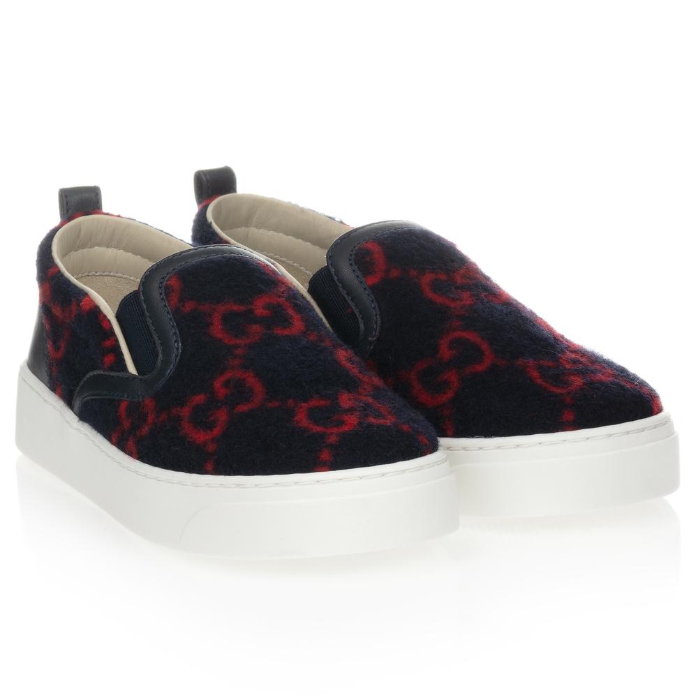 Gucci - Blue \u0026 Red GG Wool Sneaker