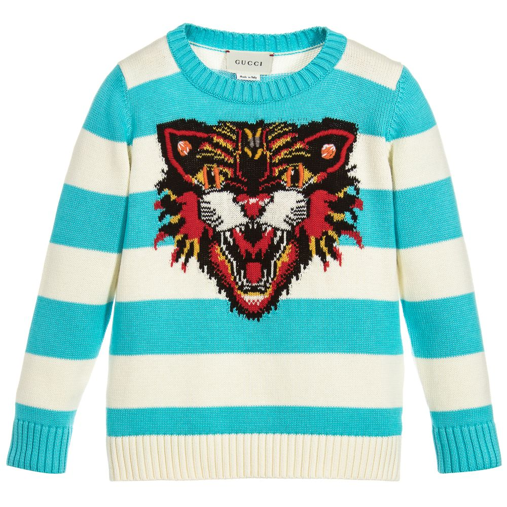 3b7a6d7557e Gucci - Boys Angry Cat Sweater