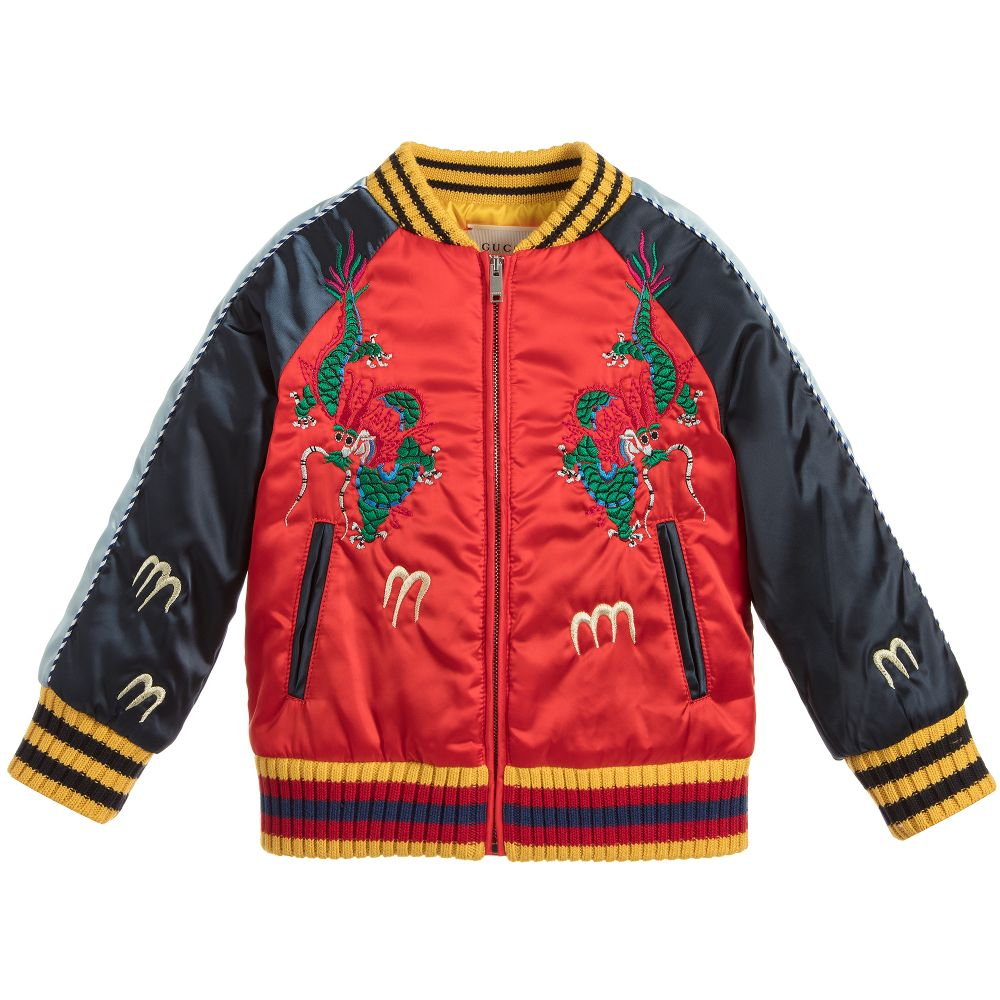 Boys Satin Bomber Jacket | Childrensalon