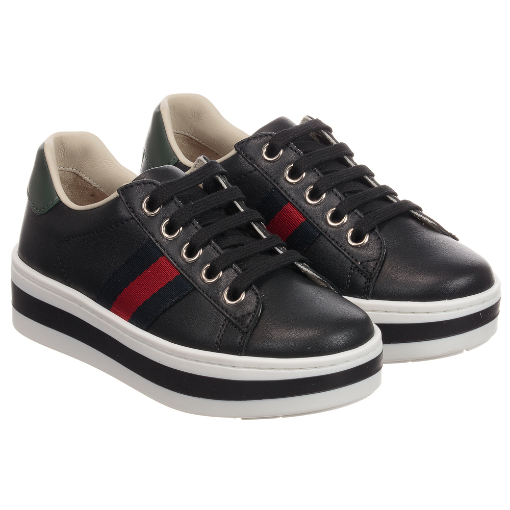 Gucci - Girls ACE Platform Sneakers