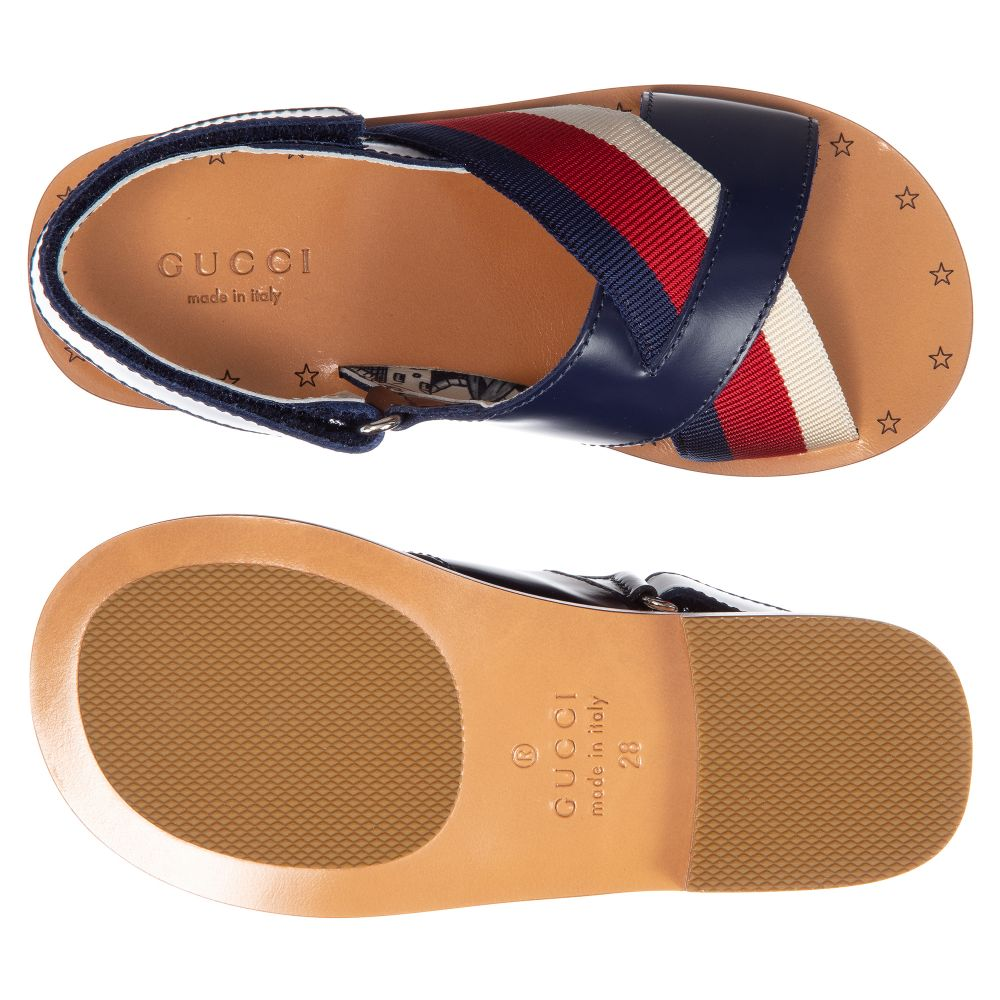 0acd0a19f66d Gucci - Girls Blue Leather Sandals