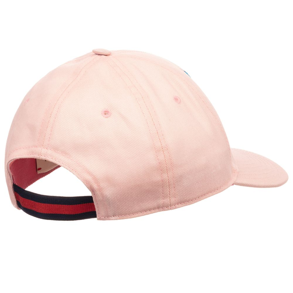 Gucci - Girls Pink Cotton Logo Cap  a98692ffdec