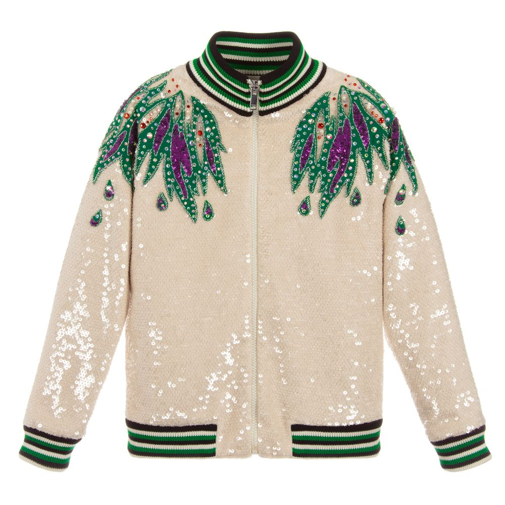 Gucci Girls Sequin Bomber Jacket Childrensalon