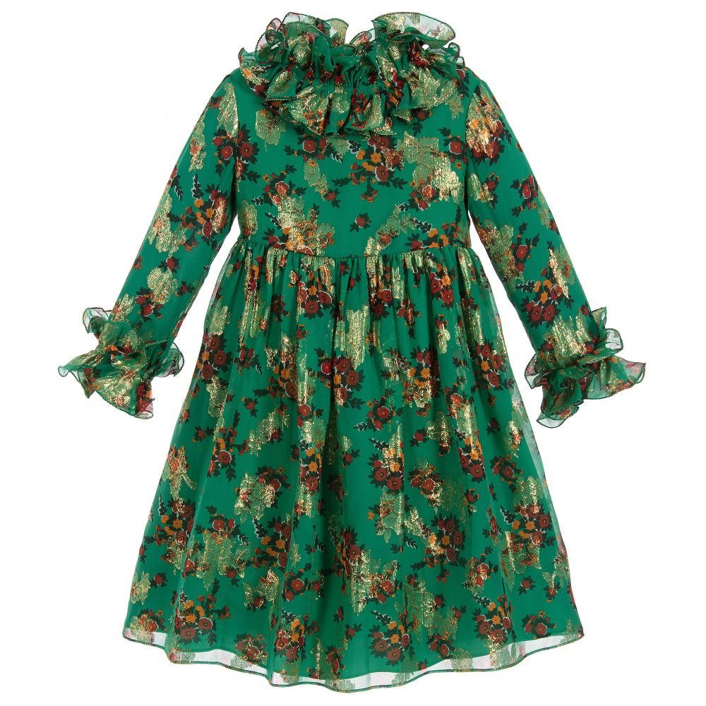 a589a0c68 Gucci - Green Silk Dress | Childrensalon