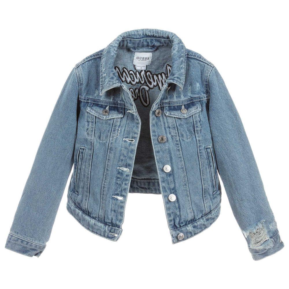 6a2afb85504d Guess - Girls Blue Denim Jacket