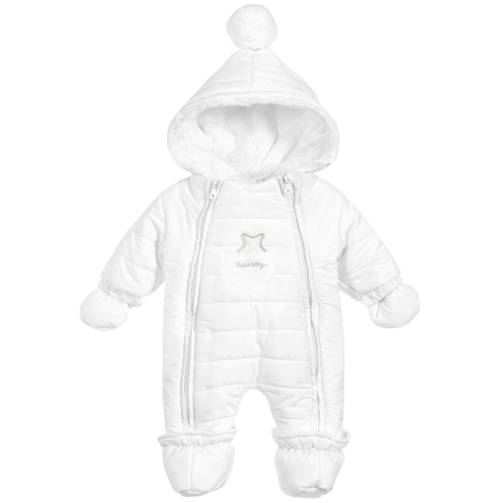 011c771bc8c0 iDO Mini - Baby Girls White Snowsuit