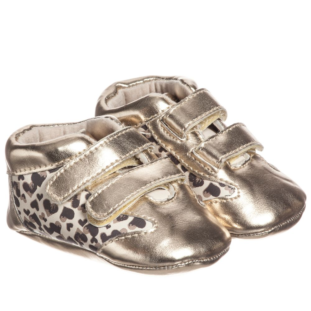 iDO Mini Baby Gold Pre Walker Shoes