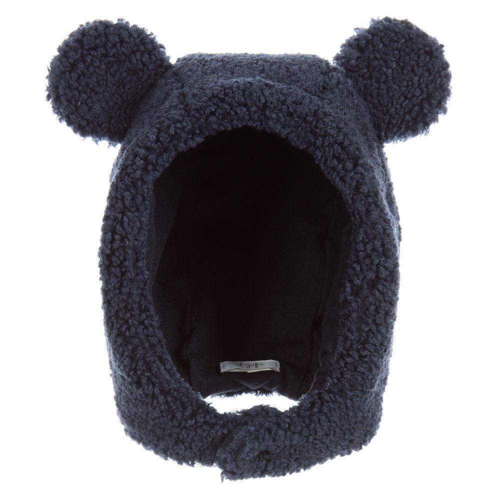 Navy Blue Teddy Hat