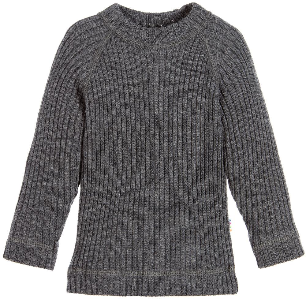 Joha Grey Merino Wool Sweater Childrensalon