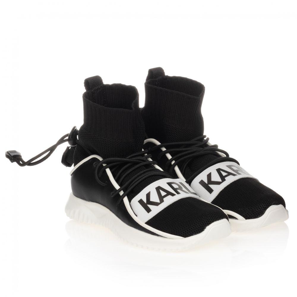 Black \u0026 White Sock Trainers | Childrensalon