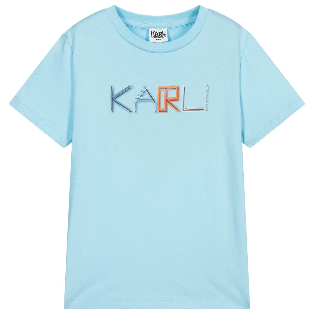 Lagerfeld White Chest Logo T-Shirt