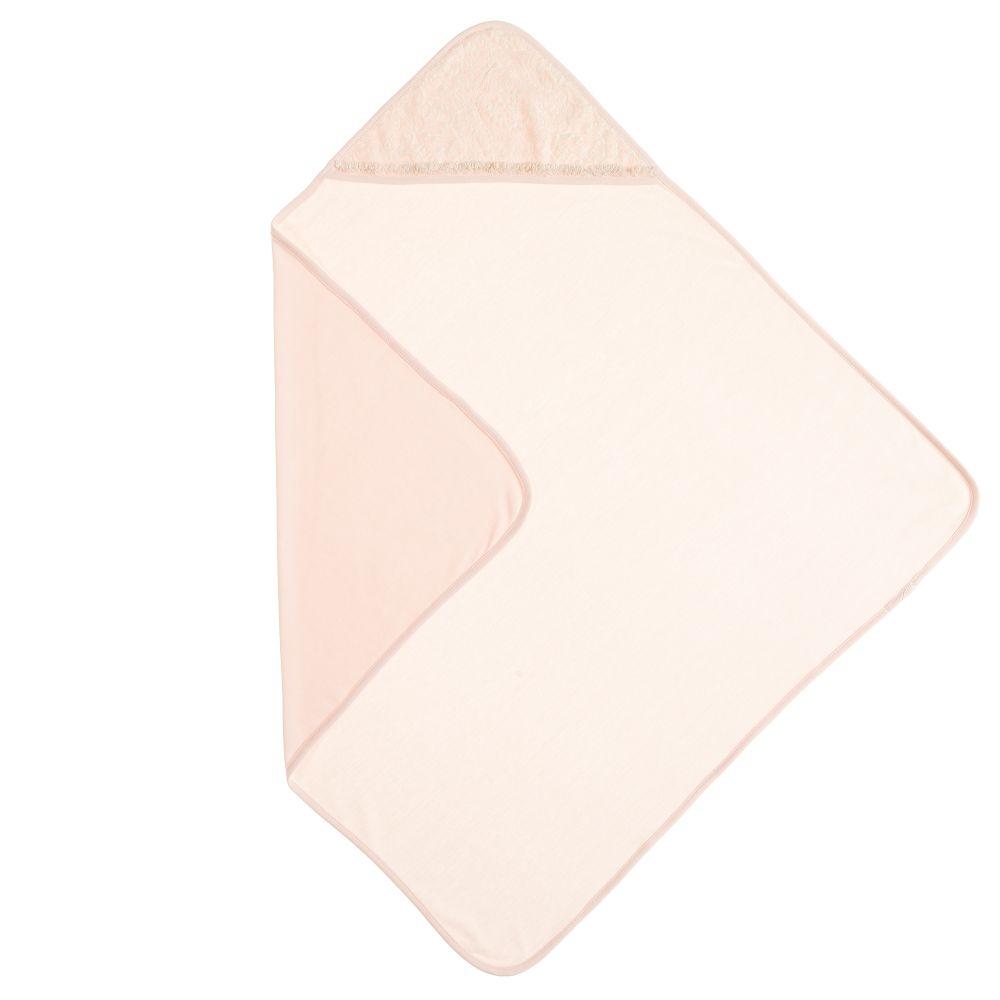 Kate Mack & Biscotti - Pink Lace Trim Blanket (68cm) | Childrensalon