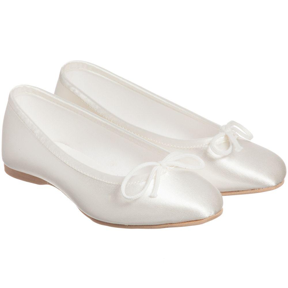 Katz - Ivory Satin Occasion Shoes  | Childrensalon
