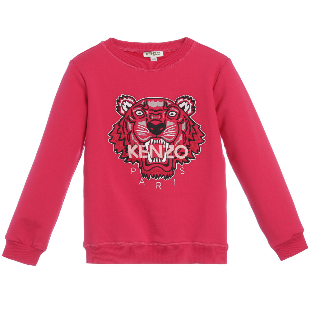 891c0f887d9b Kenzo Kids - Girls Bright Pink Tiger Sweatshirt