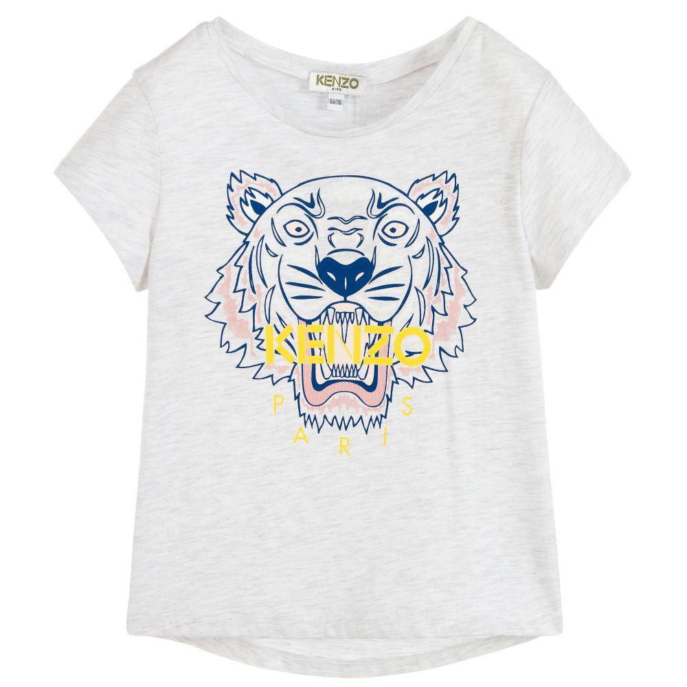 7f86e7d6 Girls Cotton TIGER T-Shirt