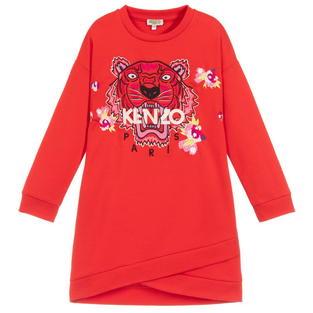 1c376f34c Kenzo Kids - Girls Red Tiger Dress | Childrensalon