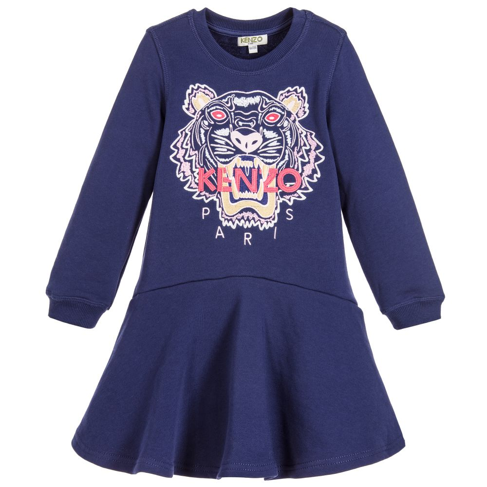 Kenzo Kids Girls Tiger Sweatshirt Dress Childrensalon