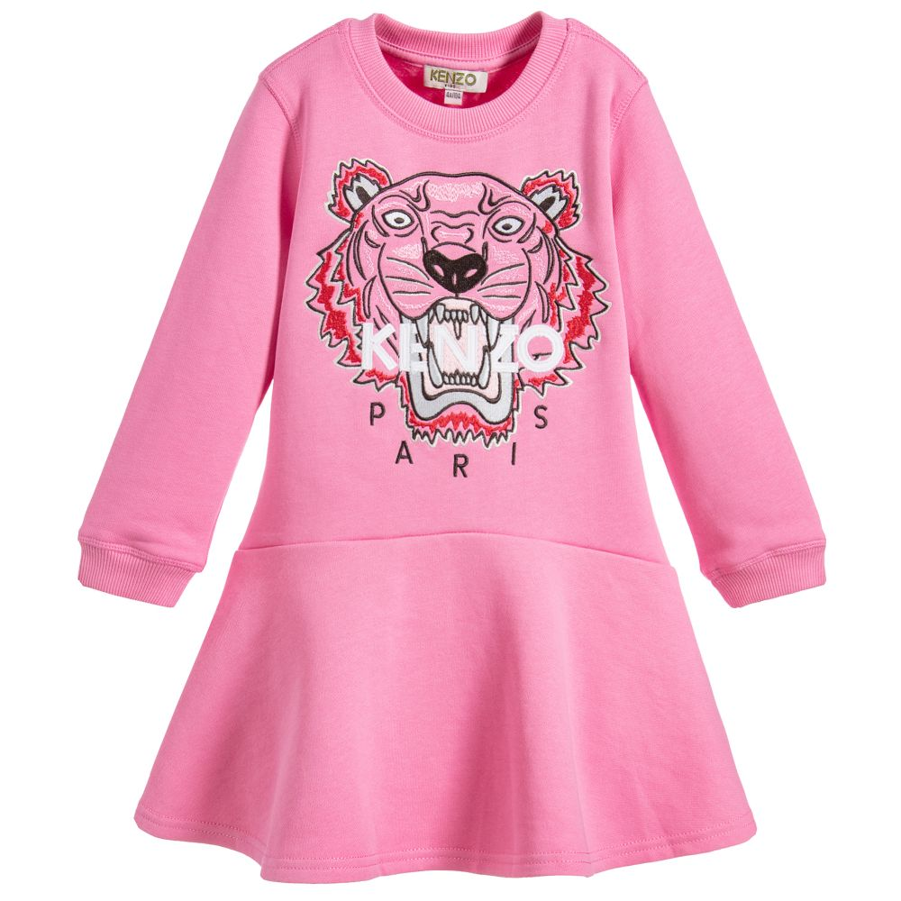 Kenzo Kids - Girls Tiger Sweatshirt Dress | Childrensalon